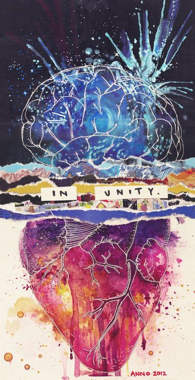 brain and heart. in unity