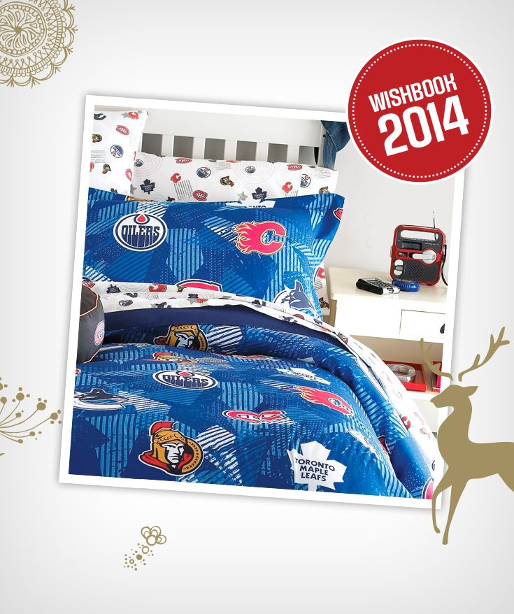 Cheer on your favourite NHL team from your bed when you have this sheet set