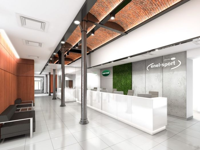 Industrial Style Enel Med Healthcare Clinic In Manufaktura Shopping Mall D