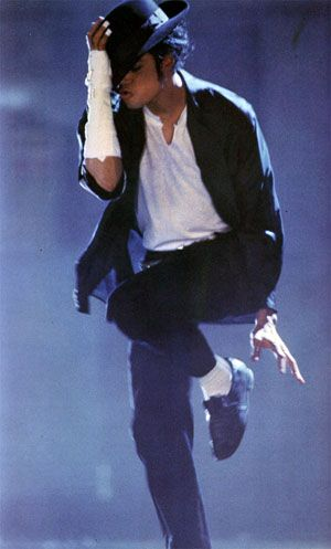 """""""Panther Dance""""  in """"Black or White video """"Dangerous Era""""  Includes: Black fedora hat, white t shirt, black slacks with silver belt, white socks, black loafers, white wrist band and white band aids on the hand. Includes long sleeve open shirt"""