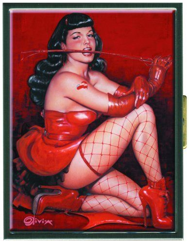 Dark Horse Deluxe Bettie Page: Red Devil Cigarette Case by Dark Horse Deluxe. Save 7 Off!. $27.98. Featuring the famed '50s pinup model. Dark Horse and Retro-A-Go-Go continue their impressive line of Bettie Page collectables. Featuring the officially licensed artwork of Olivia. From the Manufacturer                Dark. Mysterious. Irresistible. It's the dark angel, Bettie Page, at her seductive best. Bettie's black bangs, long leather gloves, and smoky stare could only be captured b...