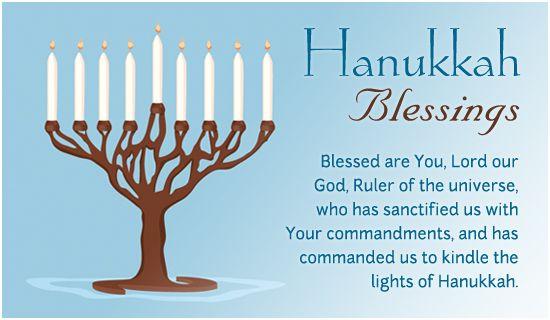 Free Hanukkah Blessings eCard - eMail Free Personalized Hanukkah Cards Online