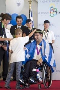 Γιάννης Ιωαννίδης στην Παραολυμπιακή Ομάδα που επέστρεψε από το Λονδίνο «Εσείς είστε οι πραγματικοί αγωνιστές και νικητές της ζωής»