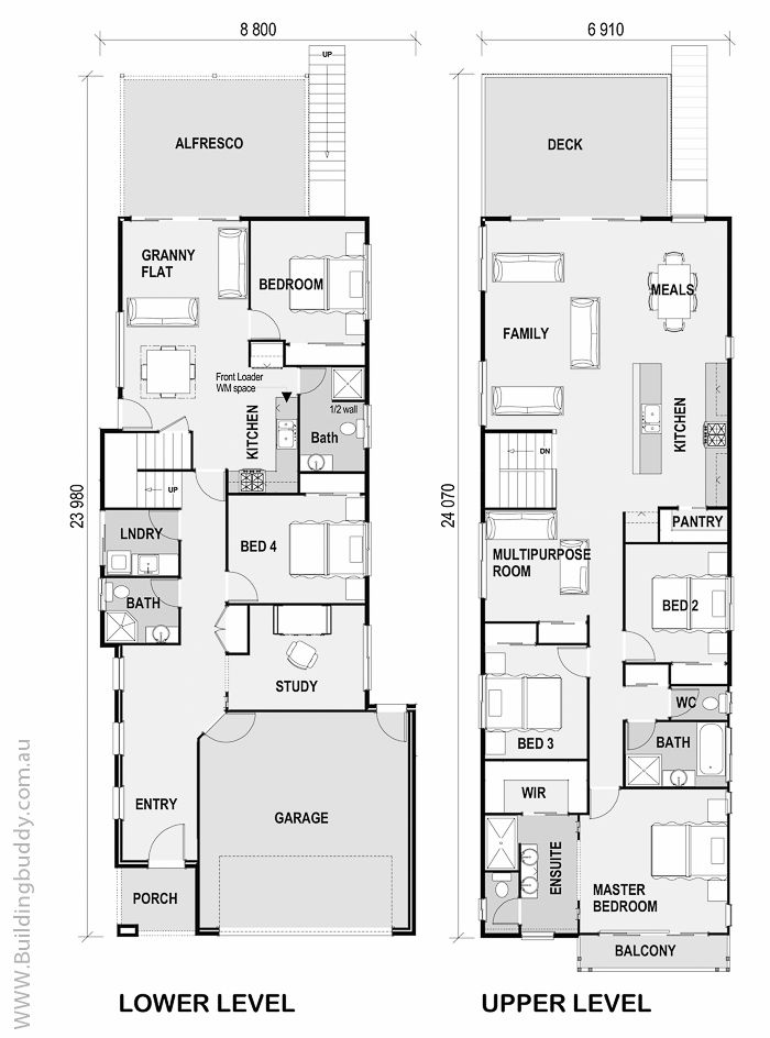 Hauspläne modern  19 best Small Lot House Floorplans images on Pinterest | House ...