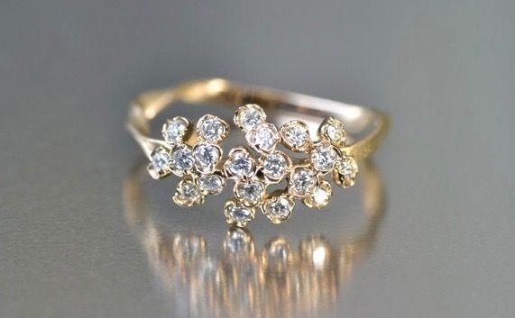 Diamond Cluster Ring by Kataoka in platinum $3240