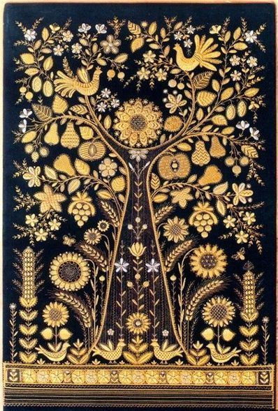 Torzhok Gold Embroidery, one of the kinds of Russian embroidery, is the folk art and craft, which appeared in Torzhok in the 13th century and was widely developed in the 18th century. The most ancient gold embroidery found in the city's area was created over a thousand years back. These were gold-embroidered pieces leather that performed the function of local money.  Torzhok gold embroidery has the typical floral ornament with a motif of a rose branch; the basic pattern was decorated with…