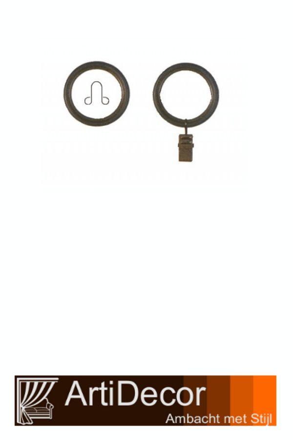 Gordijn roeden ringen voor 16mm, 25mm en 31mm roeden voorzien van een ooghaak of knijpertje voor de gordijnen. Ringen voorzien van een kunststof binnenring om krassen te voorkomen en de ringen glijden beter over de roeden heen. Vragen? wij van ArtiDecor staan voor u klaar. 072-5158252