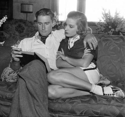 Errol Flynn and wife Lili Damita, Los Angeles, June 25, 1935
