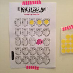 Print de beloningskaart wc plassen voor jongens of meisjes gratis uit en maak zindelijkheidstraining tot een feestje!