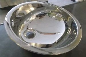 VASCA LAVABO OVALE vasca lavabo ovale con bordo sagomato, appoggio  D. 34  H 14,5 inox lucido super mirror, compreso di piletta  Adatto in ambiente bagno, garage, laboratorio #vascalavabo #lavaboovale
