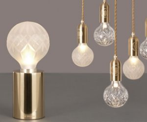 Lee broom crystal bulb lights.