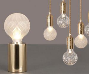 Lee broom crystal bulb lights.