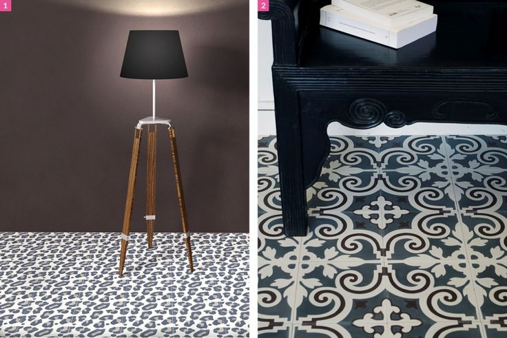 les carreaux de ciment inspirent la d co. Black Bedroom Furniture Sets. Home Design Ideas