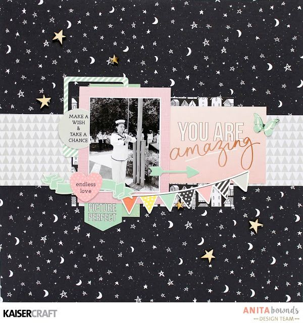 You are Amazing layout and process video With Anita Bownds - Kaisercraft Official Blog