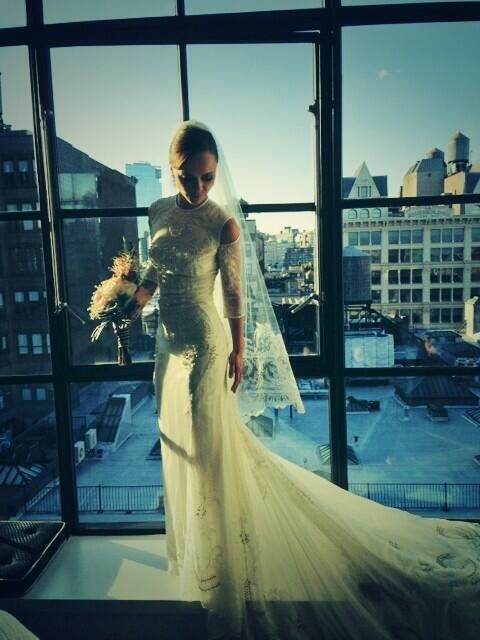 Christina Ricci's Wedding Dress | Givenchy | designed by Riccardo Tisci #AMAZE