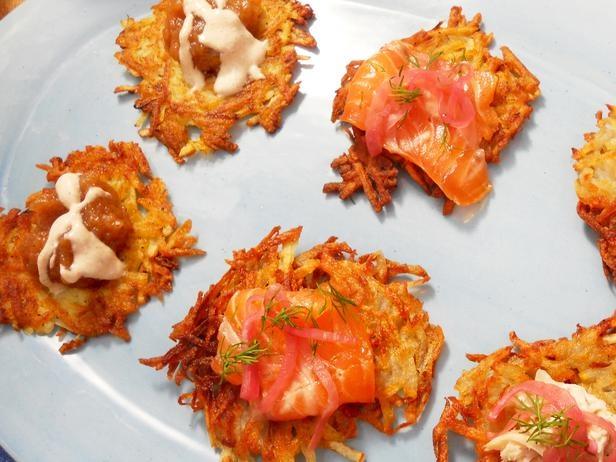 Celeriac Potato Pancakes With Apple Crème Fraîche Recipes ...