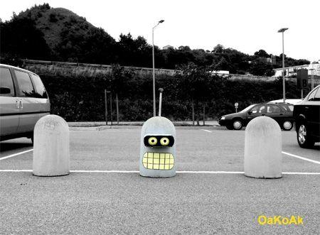 : Futurama, Idea, Urban Art, Funny, Bender, Discussed In The Oa, Streetart