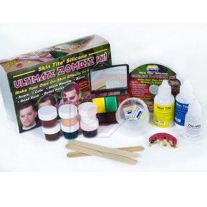 Ultimate Zombie Kit® -Kit de maquillaje zombie- Todo lo que necesitas para convertirte en Zombie...! Resultado profesional muy sencillo de ejecutar. Instrucciones paso a paso Ideal para Halloween o Carnaval.