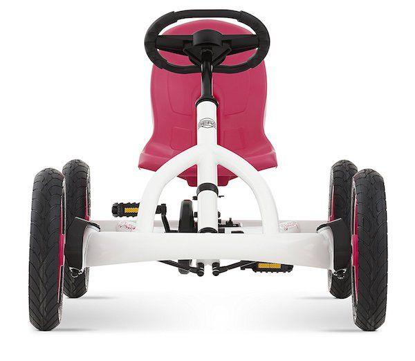 Foto Quad infantil Berg Toys. Lo divertido que es jugar al aire libre en tu propio coche de pedales blanco-rosa. Seguridad óptima con el sistema BFR.