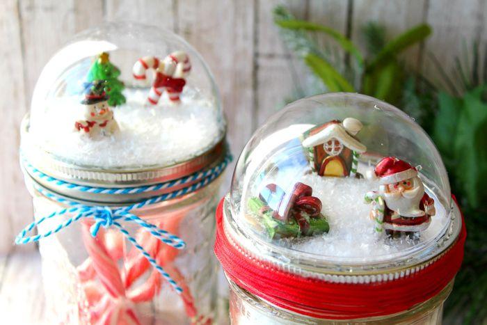 Mason Jar Christmas Gifts Snow Globe Toppers Christmas Mason