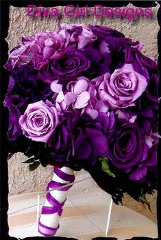 wedding bouquet...want to add silver in there #purple #bouquet
