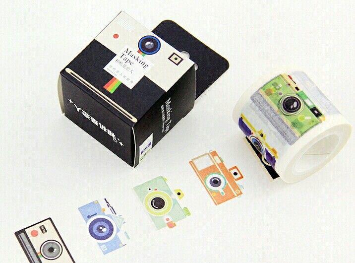 Fita adesiva decorativa de câmeras