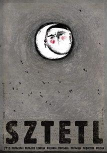 Sztetl, plakat z serii Polska, Ryszard Kaja
