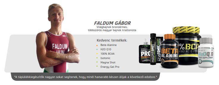 Faldum Gábor triatlonista is Biotech USA termékeket használ.