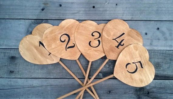 10 Rustic Wedding Table Numbers Rustic by LittleZebrasBoutique, $28.50
