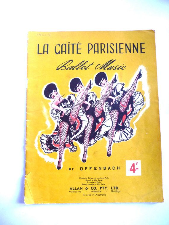 Vintage Ballet sheet music by TickleAndFinch on Etsy
