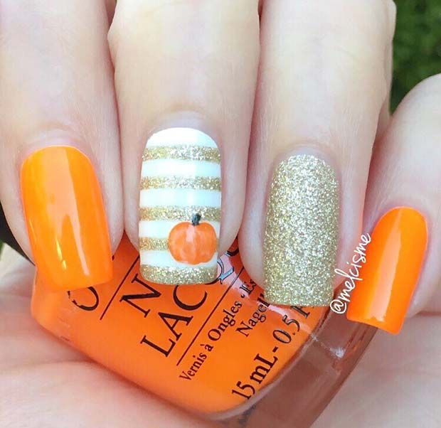 41 Cute Thanksgiving Nail Ideas For 2019 Page 2 Of 4 Stayglam Fall Acrylic Nails Thanksgiving Nail Art Fall Nail Art Designs