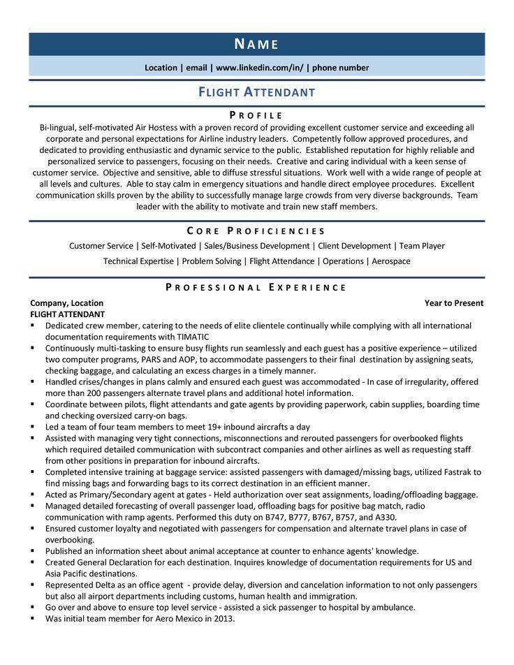 flight attendant resume samples  how to guide  flight
