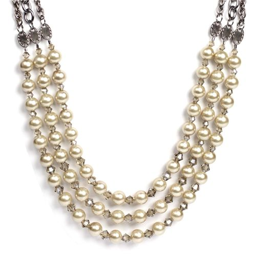 brand shoes for women 3 Strand Pearl Necklace  DIY Jewelry