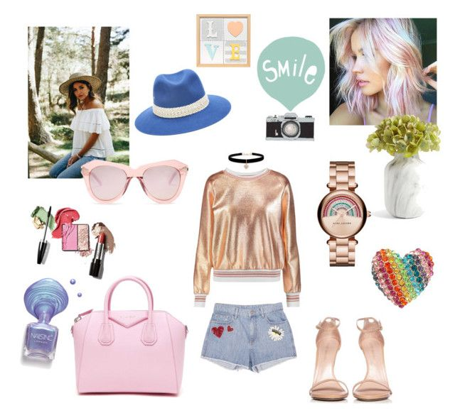 """""""Smile!"""" by gloriatovizi on Polyvore featuring Raoul, Stuart Weitzman, Maison Michel, Givenchy, Marc by Marc Jacobs, Karen Walker, Betsey Johnson and Seventy Tree"""