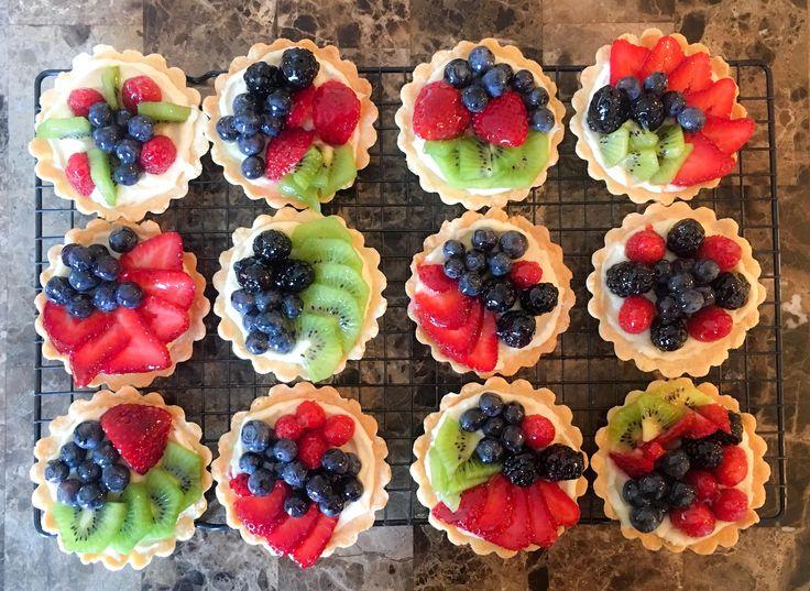 [Homemade] Mini fruit tarts!