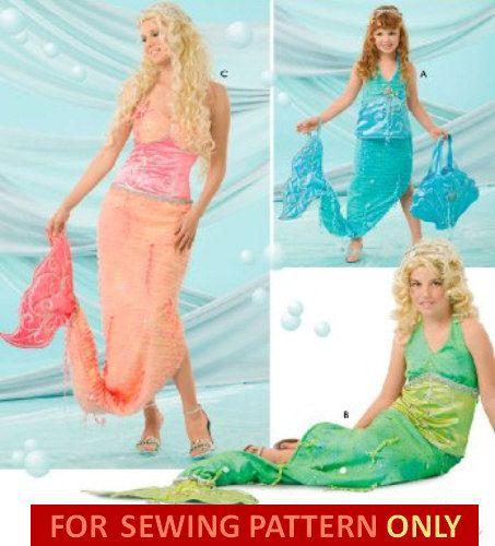 Disney Costume Patterns | COSTUME SEWING PATTERN - Ariel Little Mermais / Disney Princess ...