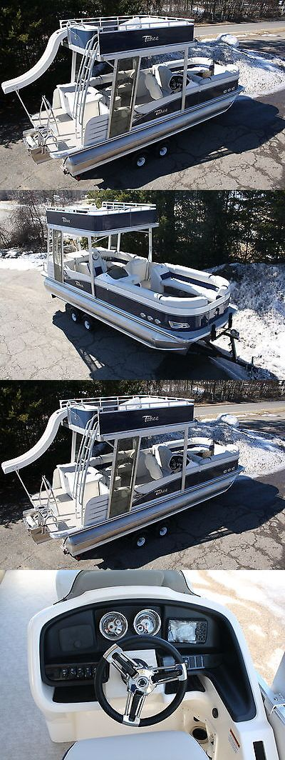 boats: 2016 -Funship-New Triple Tube 25 Ft Cascade Platinum Pontoon Boat With Slide- -> BUY IT NOW ONLY: $37999 on eBay!
