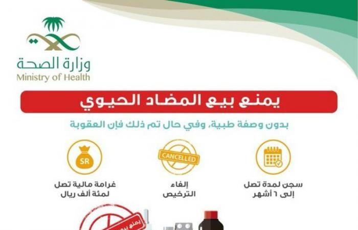 الصحة تحذر بيع المضادات الحيوية بدون وصفة طبية عقوبته السجن والغرامة 100 ألف ريال Health Personal Care Care