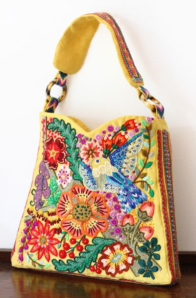 Gypsy Travel Totes  Bags| Serafini Amelia| embroidery bag