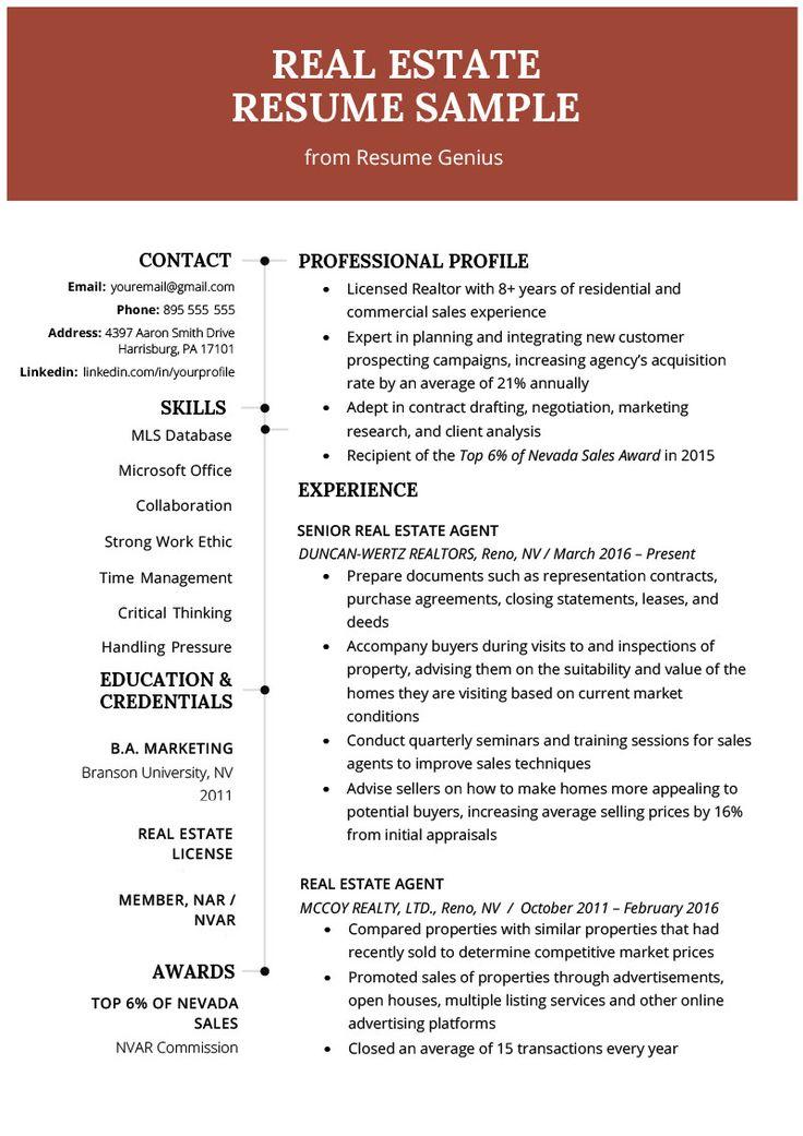 Real Estate Resume Sample Adorable Real Estate Agent