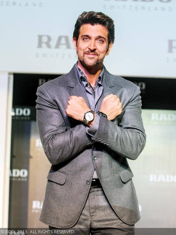 Krrish 3 actor Hrithik Roshan at the launch of Rado's new watch collection, held in Mumbai, on November 7, 2013.