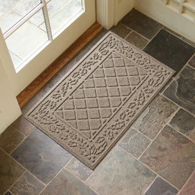 Alcott Hill Olivares Diamond Holly Outdoor Doormat Color: Camel