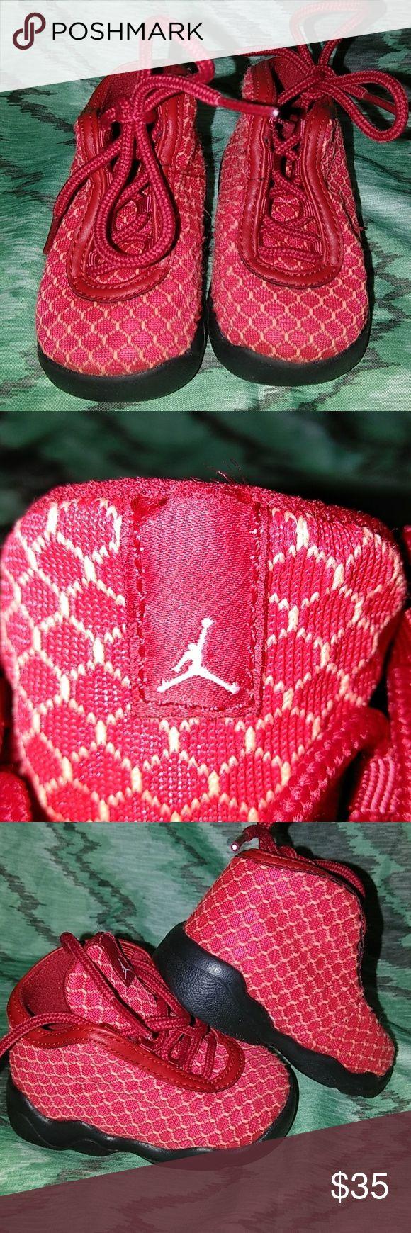 Size 4c red Jordan horizon Red and black EUC size 4c toddler Jordan horizon. No box. Jordan Shoes Sneakers