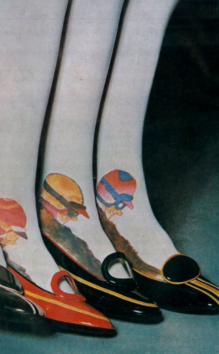 Shoes and stockings by Charles Jourdan for Vogue, 1967.Photo by Guy Bourdin.