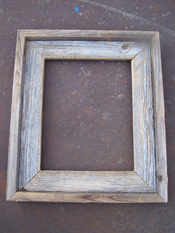 Lot of 12 8x10 Barnwood Picture Frames, 6 Deluxe & 6 Flat, Rustic, Weathered on Etsy, $84.00