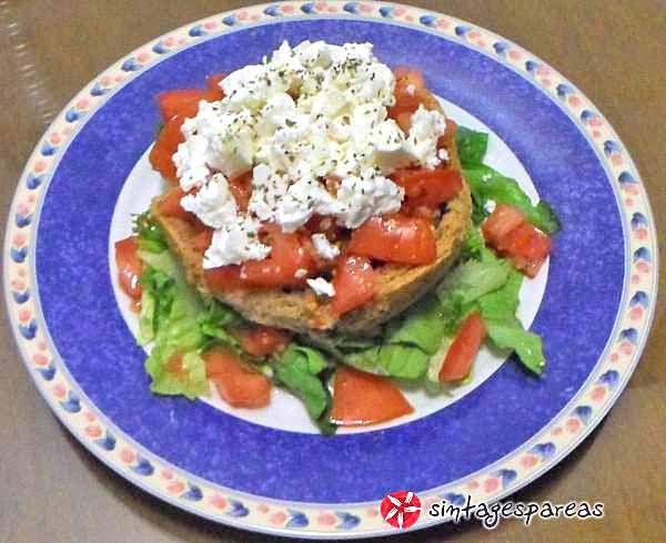 Dakos from Chania #cooklikegreeks #salad #dakos