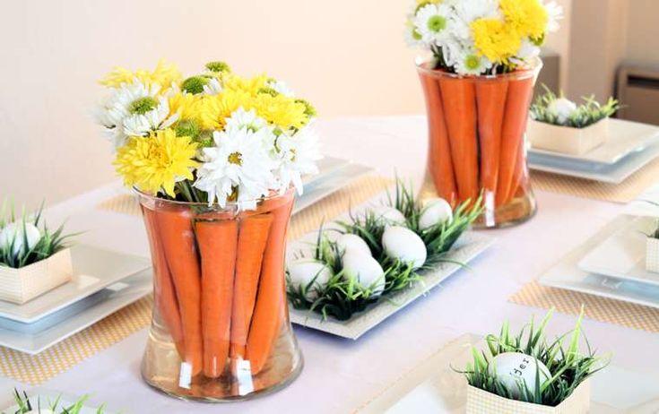 Decorazioni per Pasqua - Cartote e fiori per decorare