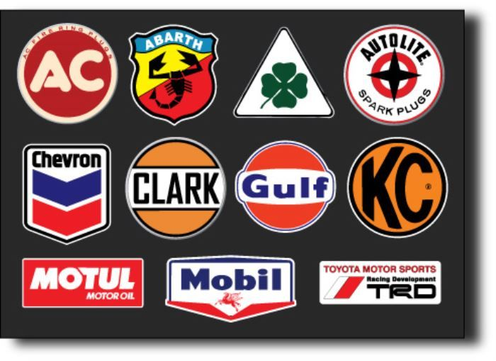 Automotive Stickers - Car Stickers and Vintage Logo Stickers Online
