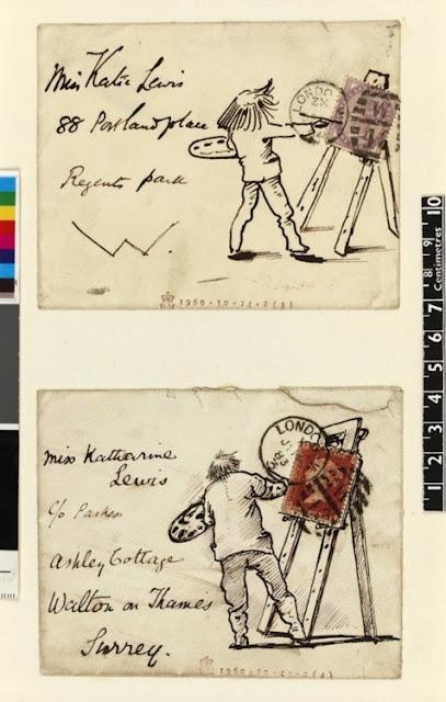 Illustrated philatelic envelopes, Created by Edward Burne-Jones