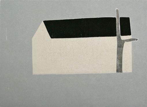 Hanne Borchgrevink - Hus og tre, 2002, 25x34cm